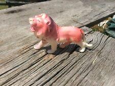 Vintage Celluloid Lion , Occupied Japan , Great Colors , Rare Animal