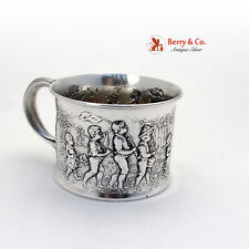 Sterling Silver Follow The Leader Baby Cup Gorham 1906