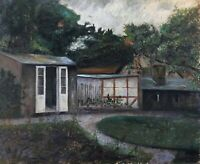 Old Oil Painting - Impressionist - to The Restore - IN The Garden - Gazebo