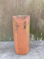 "Vintage Early 1900s Terra Cotta Octagonal Round 12"" Section Flower Planter Pot"