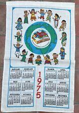 Vintage Home league Calendar 1975 Tea Towel