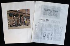 ADRIAN HILL ARTIST DISCUSSES IN CHARING CROSS ROAD PAINTING 2pp ARTICLE 1934