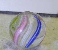#10679m Vintage German Handmade Swirl Marble .66 Inches