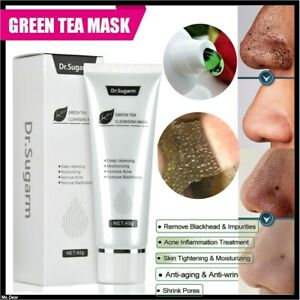 Dr.Sugarm Green Tea Face Mask Remove Acne Blackhead Nose Deep Cleansing Pore 40g