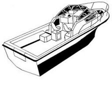 """STYLED TO FIT BOAT COVER WALK AROUND CUDDY CABIN 25'6""""-26'6"""" BOW RAILS I/O"""