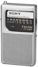 Sony ICF-S10MK2 Pocket AM/FM Radio, Silver (NEW)