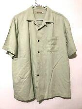 Tommy Bahama Mens 100% Silk Short Sleeve Dress Shirt Green Size Medium