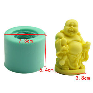 Chinese Buddha Candle Moulds Silicone Mold Soap Pottery Making Craft DIY Tool