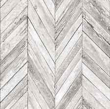Gris Blanc à Chevrons Bois Parquet Panneau Effet Papier Peint Metro Tile pays
