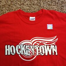 New Detroit Red Wings Authentic NHL Hockeytown Mens Medium Red Gildan Shirt