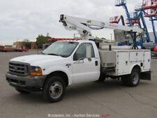 2001 Ford F450 28' Bucket Truck Aerial V10 6.8L A/T A/C Generator bidadoo