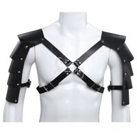 Sexy Man's Shoulder Armors Leather Buckled Body Chest Harness Club Wear Costumes