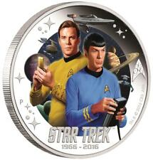 Tuvalu 1 Dollar 2016 Star Trek™ Captain James T. Kirk™ und Spock™ 1 Oz Silber PP