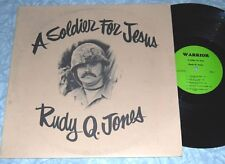 RUDY Q. JONES A Soldier For Jesus PRIVATE XIAN COUNTRY FOLK SSW RARE LP