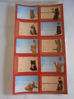 50 self adhesive Xmas gift tags cute cat designs ginger tabby black & white