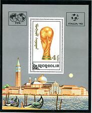 MONGOIA 1990 ITALY FOOTBALL WORLD CUP MINIATURE SHEET MNH