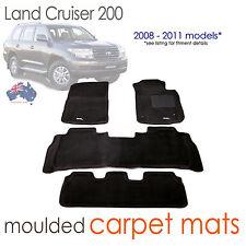 To suit Toyota Land Cruiser 200 series CARPET 3D Mats BLACK Sahara VX  2007-2011
