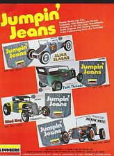 VINTAGE AD SHEET #1835 - LINDBERG JUMPIN JEANS PLASTIC MODEL CAR KITS