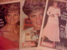 PRINCESS DIANA THE DIANA EFFECT 3 SET NEWSPAPERS RARE!