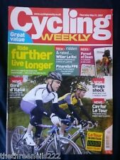 CYCLING WEEKLY - RIDE FURTHER LIVE LONGER - MAY 31 2007