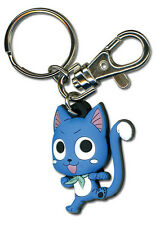 Fairy Tail Happy Punch Kick PVC Rubber Key Chain Official License GE Animation