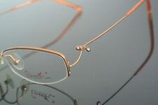 Hingeless 46mm Round Memory Titanium Silver Eyeglass Frame Vintage Glasses RX