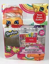 New Shopkins Rainbow 3 piece 100% Polyester Twin Sheet Set Super Soft