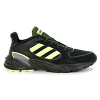 Adidas Men's 90's Valasion Core Black/Hi-Res Yellow/Grey Three Shoes EG5639 NEW