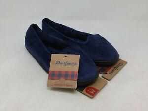 Dearfoams Women's Navy Slippers Size 7-8 US