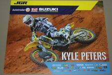 2018 Kyle Peters signed Joe Gibbs Racing Suzuki Supercross Motocross postcard