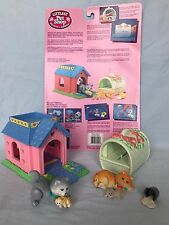Vtg 1995 Kenner Littlest Pet Shop LPS Kitty Cat Mom & Dad Birthing Cozy Complete