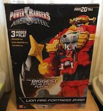 NEW Power Rangers Ninja Steel Lion Fire Fortress Zord 20in Action Figure