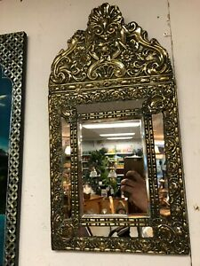 Outstanding 19th Century French Cushion Mirror 29 x 58cm