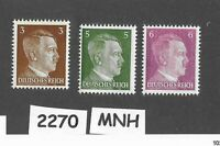 SPECIAL PRICE!  Mint Stamp set / Adolph Hitler / 1941 Third Reich / WWII Germany