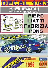 DECAL 1/43 SUBARU IMPREZA 555 P.LIATTI  R.CATALUNYA COSTA BRAVA 1996 2nd (02)