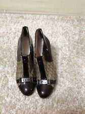AUTH CHRISTIAN DIOR VINTAGE TROTTER MONOGRAM HEELS ANKLE BOOTS SIZE 39