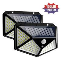 100 LED Solar Power PIR Motion Sensor Wall Lights Outdoor Garden Security Lamp