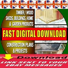 3000's OF DIY WOOD PLANS/PROJECTS PLAYHOUSES SHEDS WOOD BUILDINGS FAST DOWNLOAD