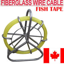 Portable Fish Tape Fiberglass Wire Cable Running Rod Duct Rodder Puller 6mm 130m