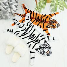 Tiger Animal Shape Cotton Non Slip Bath Rugs Doormats for Bathroom Playroom