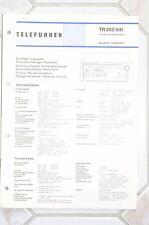 Service Plan für Telefunken TR 350 Hifi