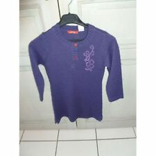 Robe Pull Manches Longues Violette Okaou Taille 8 Ans