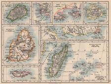 AFRICAN ISLANDS.Mauritius Madagascar Madeira Canaries St Helena 1895 old map