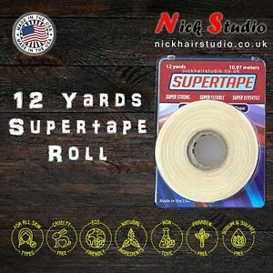 🔥WIG TAPE SUPERTAPE  ROLL 12YRD EXTRA STRONG WIG TAPE - DOUBLE SIDED TAPE