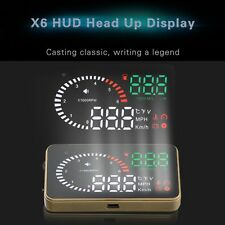 3'' Car OBDII OBD2 HUD Head Up Display Fuel Consumption Speed MPH Projector X6