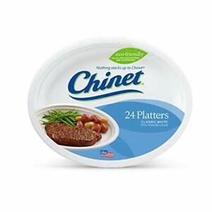 Chinet Premium 12 5/8 x 10-Inch Paper Platters 24 ct - 2 Pack