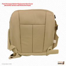 2011 2012 Ford Expedition Passenger Bottom Seat Cover Perforated Leather Tan