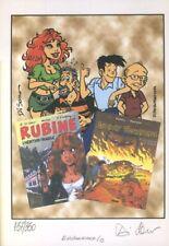 Ex-libris Offset Rubine Rubine et Jimmy Tousseul