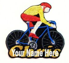 Bicycling Custom Iron-on Patch With Name Personalized Free