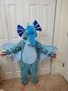 POTTERY BARN KIDS 7-8 BLUE DRAGON DINOSAUR HALLOWEEN COSTUME